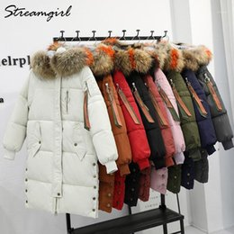 Wholesale fur hooded parka coats ladies resale online - Ladies Winter Coats With Fur Jacket Women Winter Parkas Jackets Women Warm Fur Hooded Parka Down Jacket