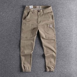 Wholesale harlem pants resale online – All kinds of overalls men s fashion brand Leggings loose tapered Harlem PANT YOUTH Capris casual pants high quality trouser Y1113