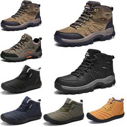 2021 Moda invierno ocio deportes zapatos de algodón plataforma para hombre cálido y terciopelo acolchado nieve al aire libre liviano alto zapatilla de deporte Tamaño 39-45 en venta