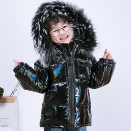 Discount boys fur parka New winter jacket parka for boys coats ,90% down girls jackets children's clothing snow wear kids outerwear toddler