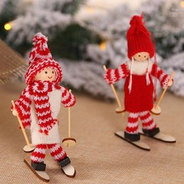 cute christmas tree NZ - New Angel Girl Ski Christmas Tree Decorations Pendant Cute Snowman Doll Christmas Ornaments Decoration For Home Xmas1