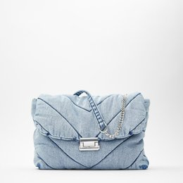 women jeans bags Australia - Vintage Blue Denim Women Shoulder Bags Designer Jeans Handbags Luxury Chains Crossbody Bag Over Large CapacityTotes Female Purse