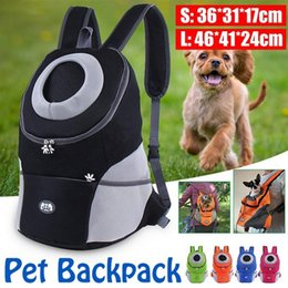Discount new designer travelling bags Pet Dog Carrier Pet Backpack Bag Portable Travel Bag Dog Front Mesh Outdoor Hiking Head Out Double Shoulder Sports NEW