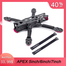 Wholesale NEW APEX 5inch 225mm   6inch 260mm   7inch 295mm Carbon Fiber Quadcopter Frame 5.5mm Arm Kit For FPV Freestyle RC Racing Drone 201105