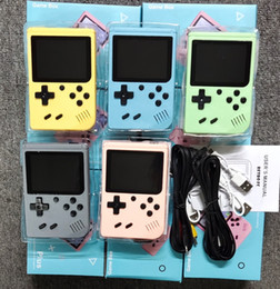 Wholesale top video games online – design TOP quality Portable Macaron Handheld Game Console Retro Video Game player Can Store in Games Bit Inch Colorful LCD Cradle