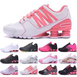 Ingrosso Nike Air Max Shox 809 803 R4 Donne libere di trasporto dei pattini 809 viale fornire corrente NZ R4 802 808 NZ RZ OZ Air Donne Grirls scarpe da tennis Taglia 5,5-8,5 viene senza