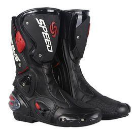 Motorcycle Footwear Professional Motorcycle Boot Motocross Racing Microfiber Leather Boots Men's Motorbike drop resistance boot Accessories on Sale