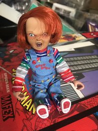 Wholesale guys dolls online – design NECA Good Guys Child s Real Clothes Version Chucky PVC Action Figurs Doll Toy Halloween horror gift