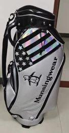 Venta al por mayor de Tigeroar Bolsas de club de golf Tigero Matte PU Sliver con ruedas Black Golfs Stand Bag