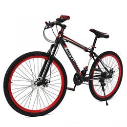 26inch Adultes Adolescents Route montagne Vélo 21 Vitesse Dual Disc Frein Bicyclette Amortissement Vélo Double Amortisseur Bike en Solde