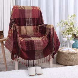 bohemian home decor NZ - Home Textile Multifunction Blanket Bohemian Cotton Throw Blanket Jacquard Tassel Decor Sofa TV Thread Tapestry Bed Cover1