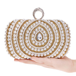 bridal purse hand bag 2021 - Rhinestone Diamond Evening Bag Women Water droplets Hand Bag Bridal Wedding Party Purse Ladies Pearl Bead Day Clutch Chains