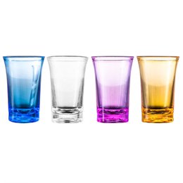 Wholesale games club resale online - Shot Glass Cup Acrylic Party KTV Wedding Game Cup For Whiskey Wine Vodka Bar Club beer wine glass ml Gift Bottle GWA2834
