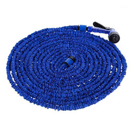 expandable hose connector Canada - Garden Hose Water Hose Watering Flexible Expandable Reels For Watering Connector Blue Green 25-200FT1