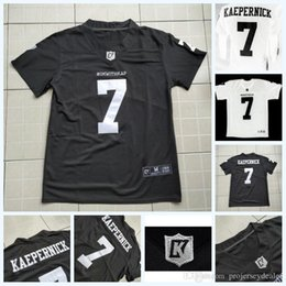 Wholesale american movie for sale – custom Imwithkap Movie Jersey Colin Kaepernick I m With Wap American Football Jersey Black White Mens Womens Youth Double Stitched Name Number