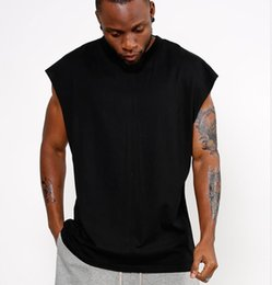 2020 Solid Color Sleeveless T Shirt Wholesale Price In Black White Grey Brown Sport Cotton Sleeveless Shirt