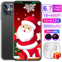 Discount unlock smartphones sim smartphones 12GB RAM 512GB ROM 48MP celulares face ID unlocked android mobile phones wifi WCDMA global 4G LTE