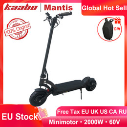 EU Stock Original Kaabo Mantis 10 Pro Dual Motor 2000W Scooter 60V 24.5Ah 18.2Ah battery Electric Scooter Foldable Full-hydraulic brake on Sale