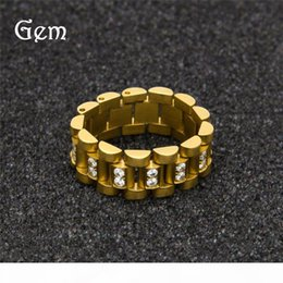 mens cluster rings NZ - Hiphop Rhinestone Rings For Men Gold Plated Hip Hop Jewelries Top Quality Fashion Mens Cluster Ring Wholesale