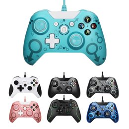 Wholesale video games xbox resale online - Hot Sale USB Wired Controller For Xbox One S Video Game Mando For Microsoft Xbox One Slim Controle Jogo For Windows PC Gamepad Y1209