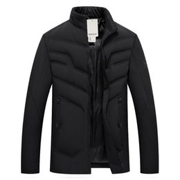 Wholesale puff coats resale online – Man Puffer Basic Coat Winter Short Parkas Men Smart Casual Puff Outerwear Male Leisure Padded Jacket Mens Lightweight Warm Coats