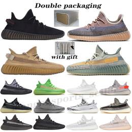Kanye West Bred Earth Oreo men women running shoes Black Static Reflective Cream White Beluga 2.0 Yecheil Cinder Zebra v2 sports sneakers on Sale