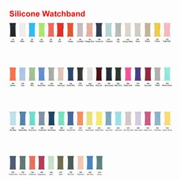 Wholesale Soft Silicone Strap Watch Band for apple iWatch Series 1 2 3 4 5 6 38mm 42mm 40mm 44mm for iwatch Band