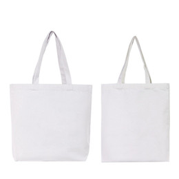 Wholesale garage clothing for sale - Group buy DIY White Tote Canvas Bag Sublimation Blank Rectangle Handbag Fixed Single Shoulder Strap Pouch White Outdoor Shopping mj G2