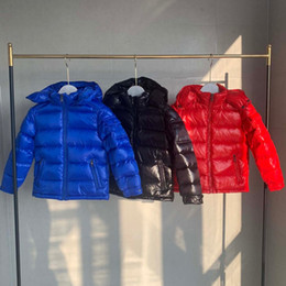 зима бестселлер дизайнер одежда детская пуховик детские дети с капюшоном пуховик мальчик и девочка снаряжение парку высококачественный черный свободный shipp на Распродаже