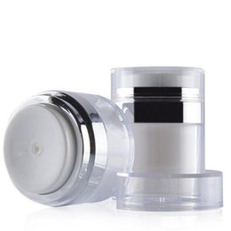 white airless bottles NZ - 15ml 30ml 50ml Cosmetic Jar Empty Acrylic Cans White Vacuum Bottle Airless Refillable Container Press Lotion Pump Bottle