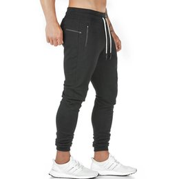 pantalon de jogging pour hommes achat en gros de-news_sitemap_home2021 Nouveau Pantalon de jogging Men s Zip Pocket Joggers Fitness Gym Training Pantalons Sports Sports Sport Pantalon d entraînement sportif
