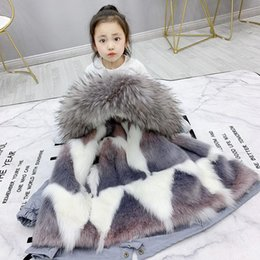 Discount boys fur parka 2020 New WInter Baby Girls Fur -30 Coat Kids Boys Detachable Faux Fur Liner Jackets Children's Warm Thicken Hooded