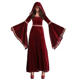 Wholesale sorcerer for sale - Group buy Long Dresses Women Halloween Party Cosplay Vampire Costume Retro Court Sorcerer Uniform Witch Costumes1