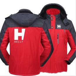 M-5XL Plus Size Mens Windbreaker Jacket Helly Designer Winter Coat Warm Fleece Lined Softshell Waterproof Outdoor Hooded Outwear E111603 on Sale