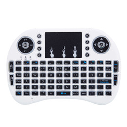 MINI i8 2.4GHz 3-color Backlight Wireless Keyboard with Touchpad White Three Colors LED Backlight US Stock Fast Shipping