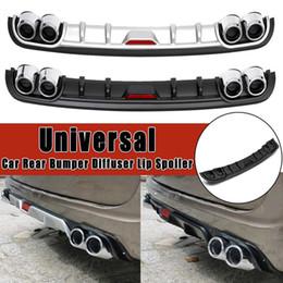 1 Piece Car Universal Rear Bumper Lip Diffuser Body kits ABS Plastic Black Silver Auto Parts on Sale