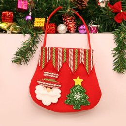 luminous handbag Australia - Factory price Handbags Apple for Candy Kids Gifts Bags Christmas Decoration Snowman Beer Santa Claus Gift Hand Bag