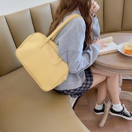 Wholesale korean black cosplay for sale – custom Girls Japanese School Book Handbag Teenager Korean Fashion Pu Leather JK Commuter Briefcase Cosplay Yellow Black Top handle Bag