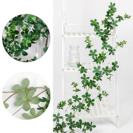 plastic green vines Australia - 1.7M Artificial Leaf Garland Plants Ivy Green Vine Fake Foliage Flowers Home Decor Plastic Artificial Flower Rattan String