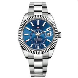 venda por atacado Moda Rose Gold Mens Movimento automático Calendário Pequeno Calendário 42mm Aço Inoxidável Céu-morador Luminoso Negócio À Prova D 'Água 5ATM Watch Watches