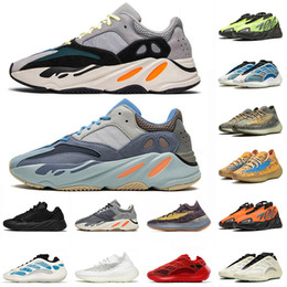 700 sneakers NZ - Magnet 700 Kanye West Running Shoes Carbon Blue Azareth Orange Mens Womens Kyanite Cacite Glow Triple Black Vant Azareth Trainers Sneakers