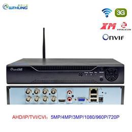 Kits 8CH CCTV WIFI 5MP DVR H.265 P2P Xmeye Cloud Video Recorder Home Surveillance Sécurité Digital avec Onvif pour AHD IP Camera1 en Solde