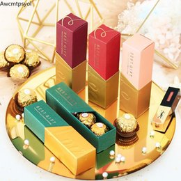 baby lipstick 2021 - New Creative Lipstick Candy Box Wedding Favor Gift Box Baby Shower Birthday Party Supplies Decoration Package Gift Bags1