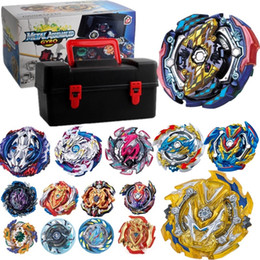 top toy beyblade Australia - Tops Set Launchers Beyblade Toys B-131 B-122 B-130 Toupie Metal God Burst Spinning Top Bey Blade Blades Toy bay blade bables Y1130