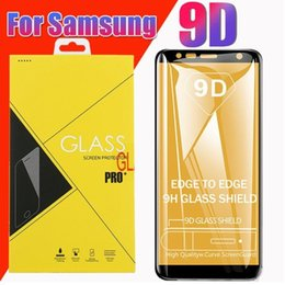 screen protector for galaxy s Australia - 9D Tempered Glass 9H Curved Clear Film Explosion-proof Screen Protector For Samsung Galaxy A40 A50 A60 S A51 A71 A91 M10 M20 M30 With Box