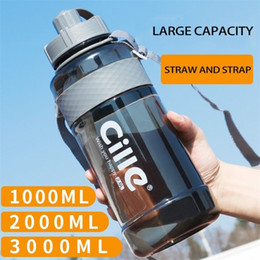 3l bottle water Australia - 1  1.5 2 3L Sports Plastic Water Bottles Large Capacity Portable Outdoor Travel Camping Bicycle Fitness Coffee Tea Drink Bottles 201204
