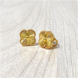 Vente en gros 2020 NOUVEAU MODE FAIRE COUVERTOUILLES COUVERTOUILLES D'OREILLES DU TITANIUM GOLD TITANIUM STANDING Boucles d'oreilles pour femmes bijoux avec boîte avec timbre