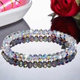 Imitation Austrian Female Beaded Simple Fashion Crystal Bracelet Female Sweet Temperament Korea