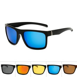 beach party sunglasses NZ - NOMANOV 2020 Large Square Frame Colorful Mirror Retro Fashion Polarized Sunglasses Outdoor Beach Holiday Movement Party