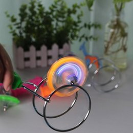 Discount gyroscope gyro Magnetic Gyro Colorful Luminous Magic Spinning Top Rotating Gyroscope Led Light Show Funny Toy Kids Children's Chri